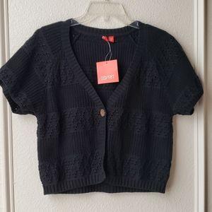 Black sweater cardigan by ESPIRIT